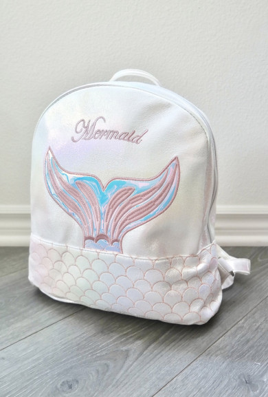Backpack - Mermaid Mini Backpack in Pearlescent White