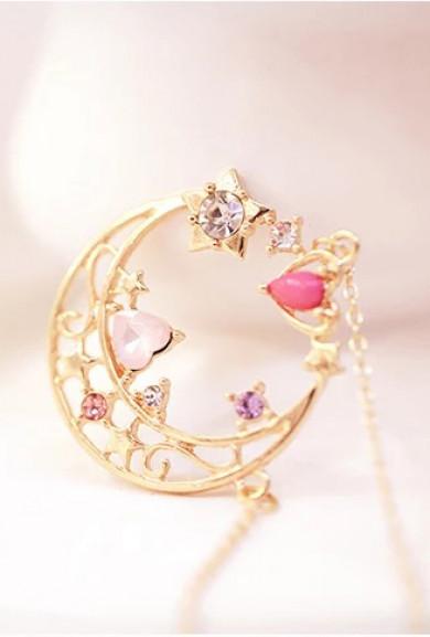 Necklace - Moon Magic Crescent Enchantment Pendant Necklace