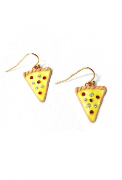 Earrings - Midnight Snack Pizza Slices Earrings