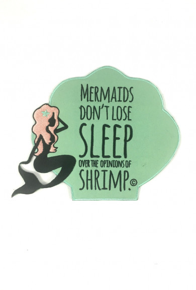 Patches - Quirky Mermaid Embroidered Large Iron-on Patch in Mint