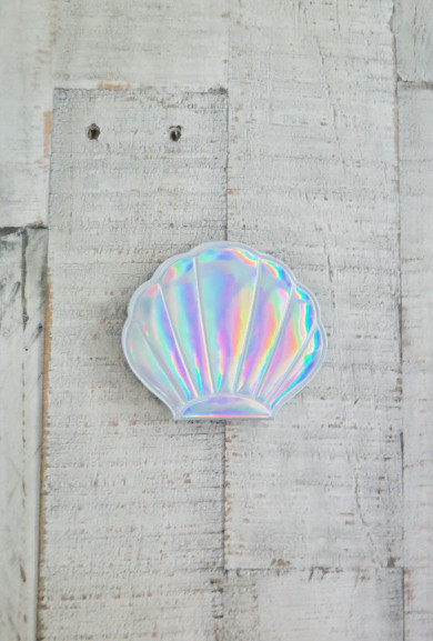 Compact Mirror - Mermaid Vanity Seashell Compact Mirror in Iridescent