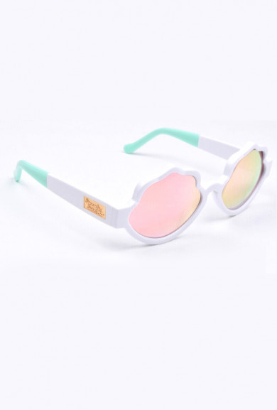 Eyewear - See Shells Seashell Frame Sunglasses in White