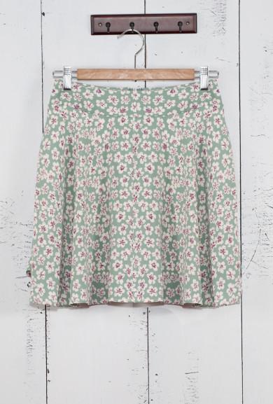 Skirt - Spring Frolic Ditsy Daisy Skater Skirt in Sage