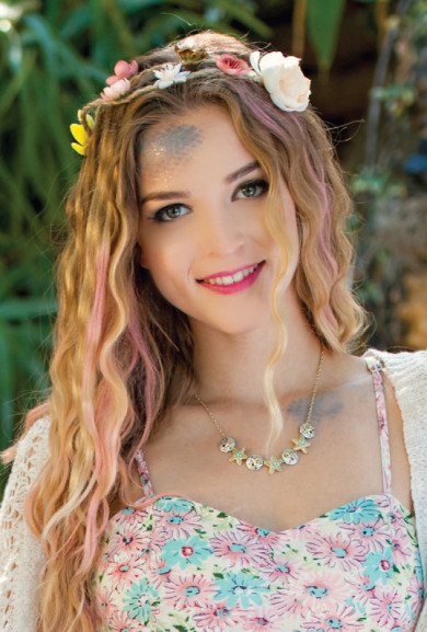 Head Piece -Storybook Gardens Boho Twine Flower Crown