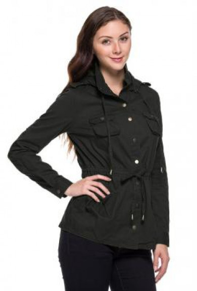 Jacket - Street Trends Black Military Utility Jacket