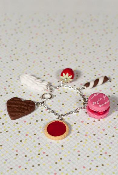 Bracelet - Sweet Confections Chocolate Berry dessert Assortment Bracelet