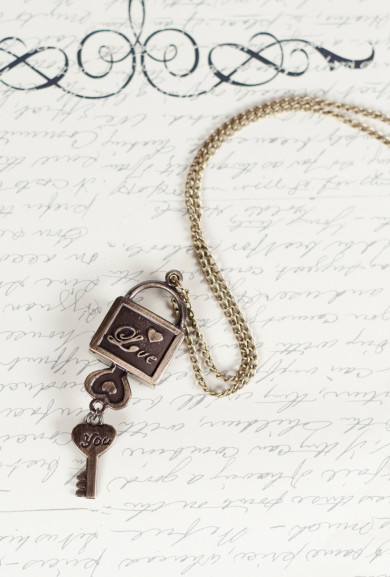 Necklace - Timeless Love Key and Lock Necklace