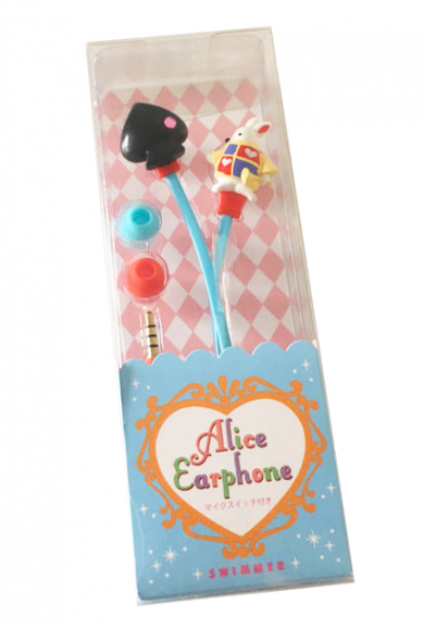 Alice in Wonderland White Rabbit Earphones