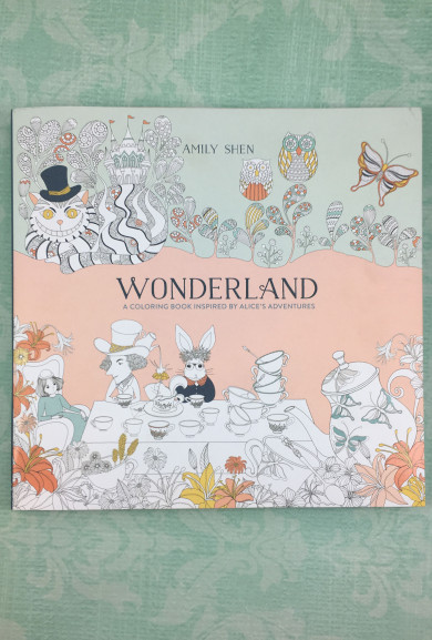Books - Wonderland Adult Coloring Book by Amily Shen