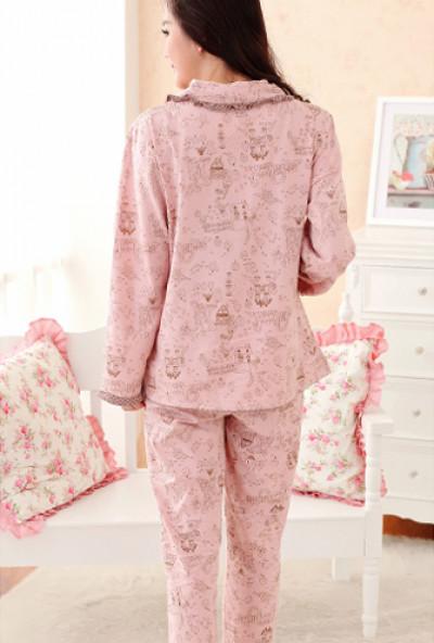 cb51e0afa316 Pajama - Hearth and Home Vintage Print Pajama Set in Pink Brown ...