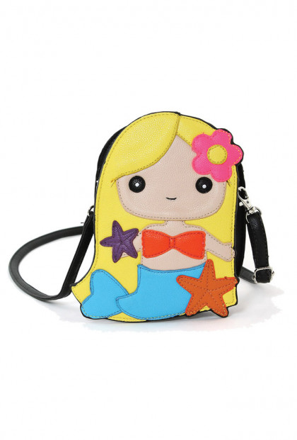 Purse- Mermaid Girl Crossbody Bag in Blonde
