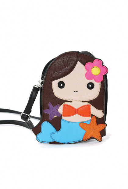 Purse- Mermaid Girl Crossbody Bag in Brunette