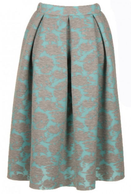 Skirt - Royal Gala Floral Jacquard Midi Skirt