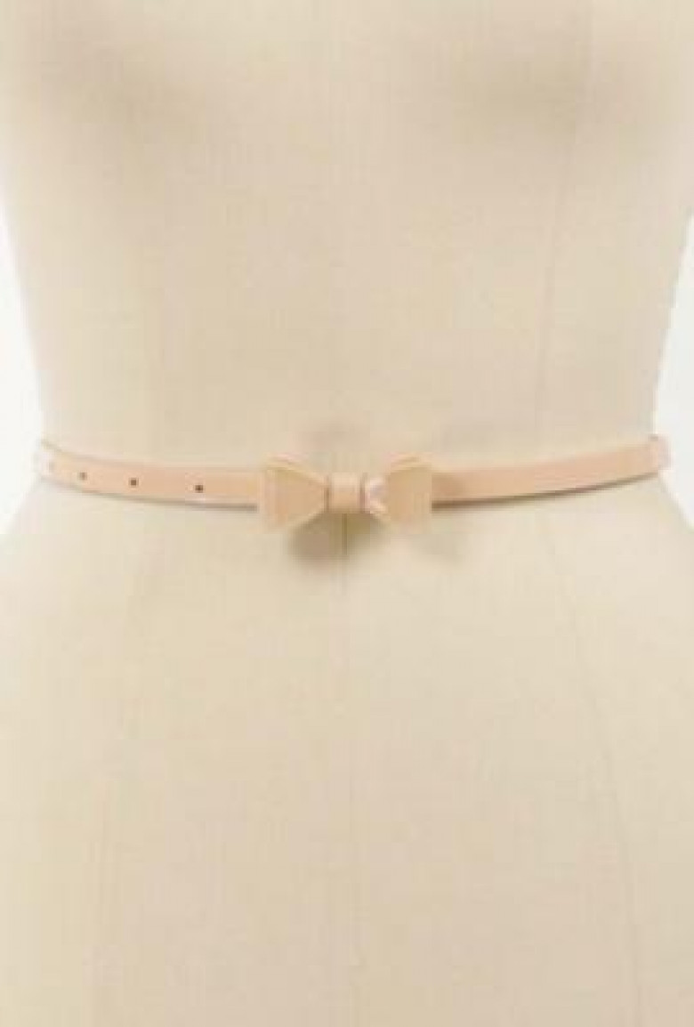 6f0de9a19a526 Belt -In a Bind Patent Bow Belt in Peachy Pink