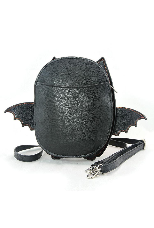 Purse Sugar Skull Bat Crossbody Bag Sincerely Sweet