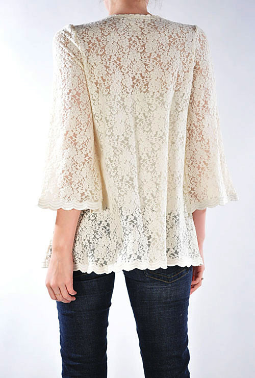 jacket courtship adoration 34 sleeve lace open jacket