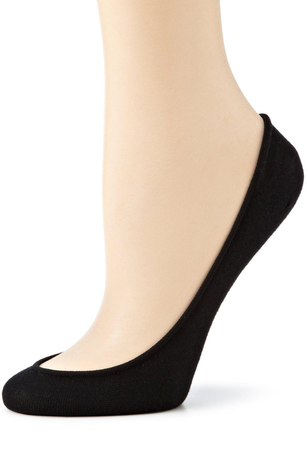 Daily Comfort No Show Foot Liner Socks In Black