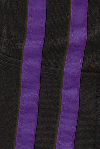 Capris Front Runner Contrast Color Bar Trimmed Purple