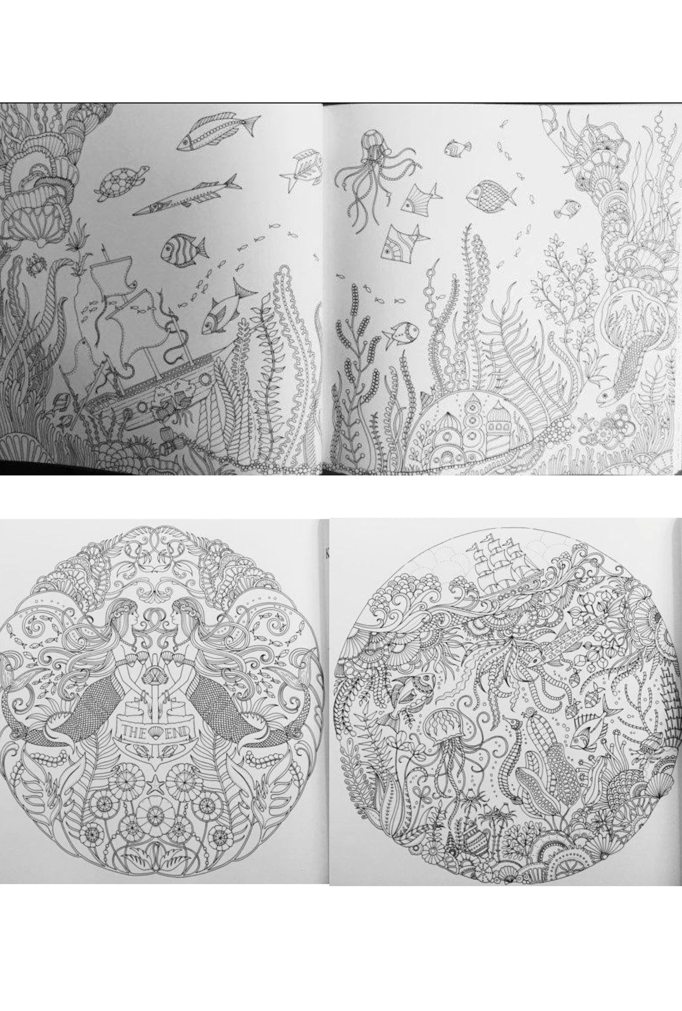 lost ocean adult coloring book - Ocean Coloring Book