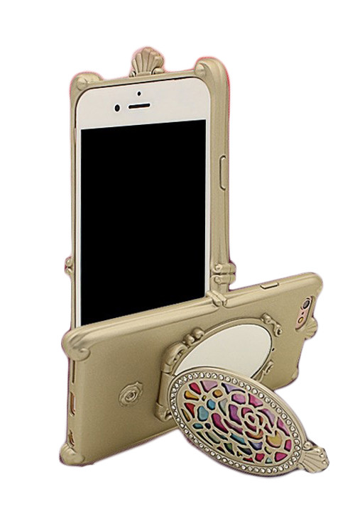 Iphone case magic mirror iphone 6 case in gold for Mirror your phone