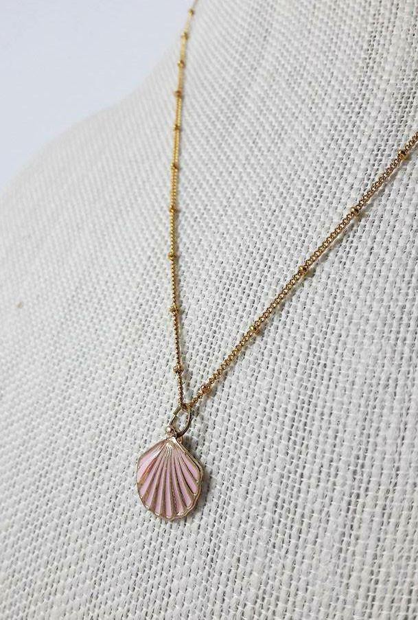 Necklace mermaid charm seashell pendant necklace sincerely sweet mermaid charm seashell pendant necklace aloadofball Gallery