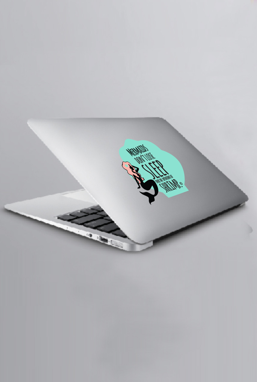 Decals Quirky Mermaid Laptop Tablet Decal Sincerely