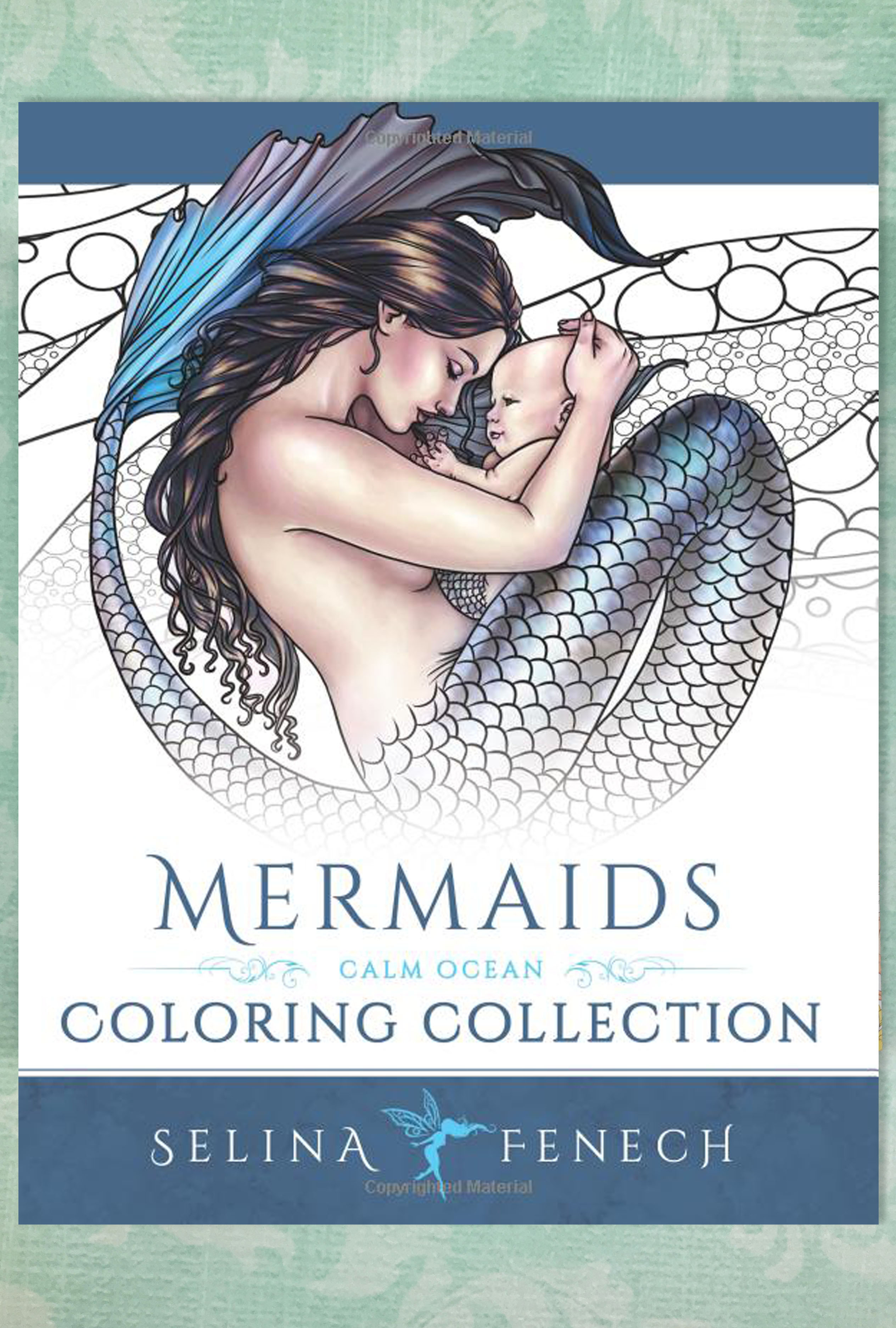 Books Mermaids Calm Ocean Adult