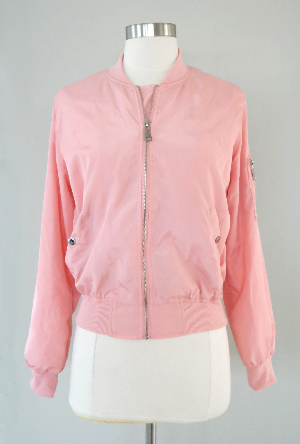 Pink Ladies Bomber Jacket in Dust Pink | Sincerely Sweet