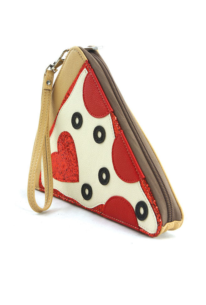 Clutches Pizza Party Slice Clutch Purse Sincerely