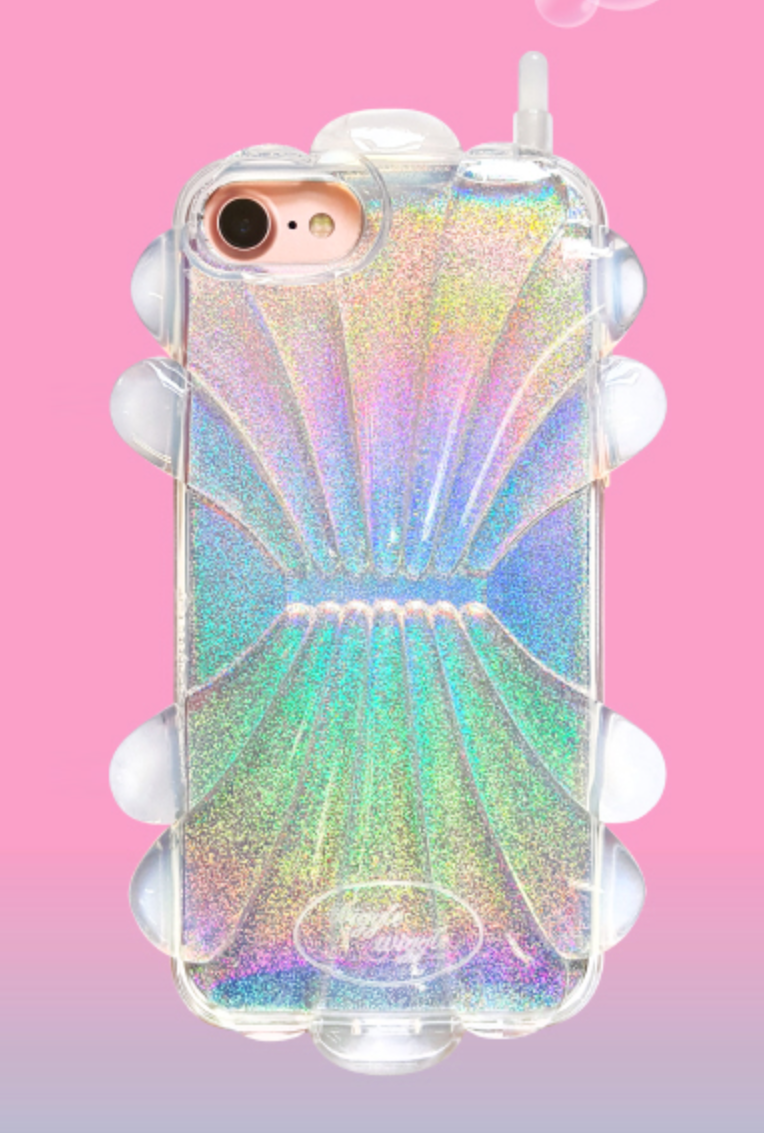 Cell Phone Case Shellfish Holographic Cell Phone Case In