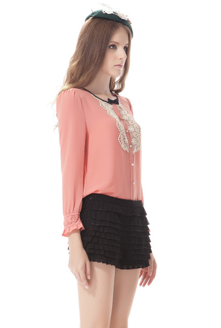 Pearl Collar Blouse