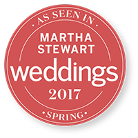 As seen on Martha Stewart Wedding magazine