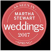 As seen on Martha Stewart Wedding magazine