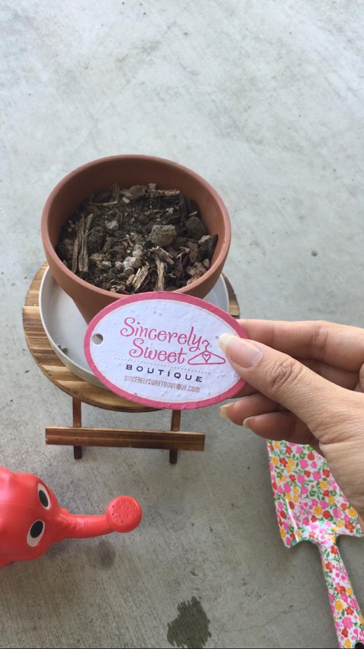 Plantable seed hangtags